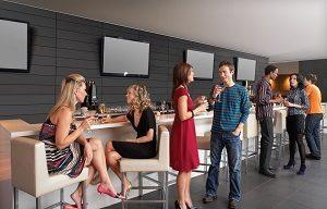 Restaurant, Bar, Waiting Room, Doctors Office, Lounge Satellite TV